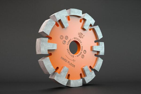 Diamant freesblad oranje harde vloeren