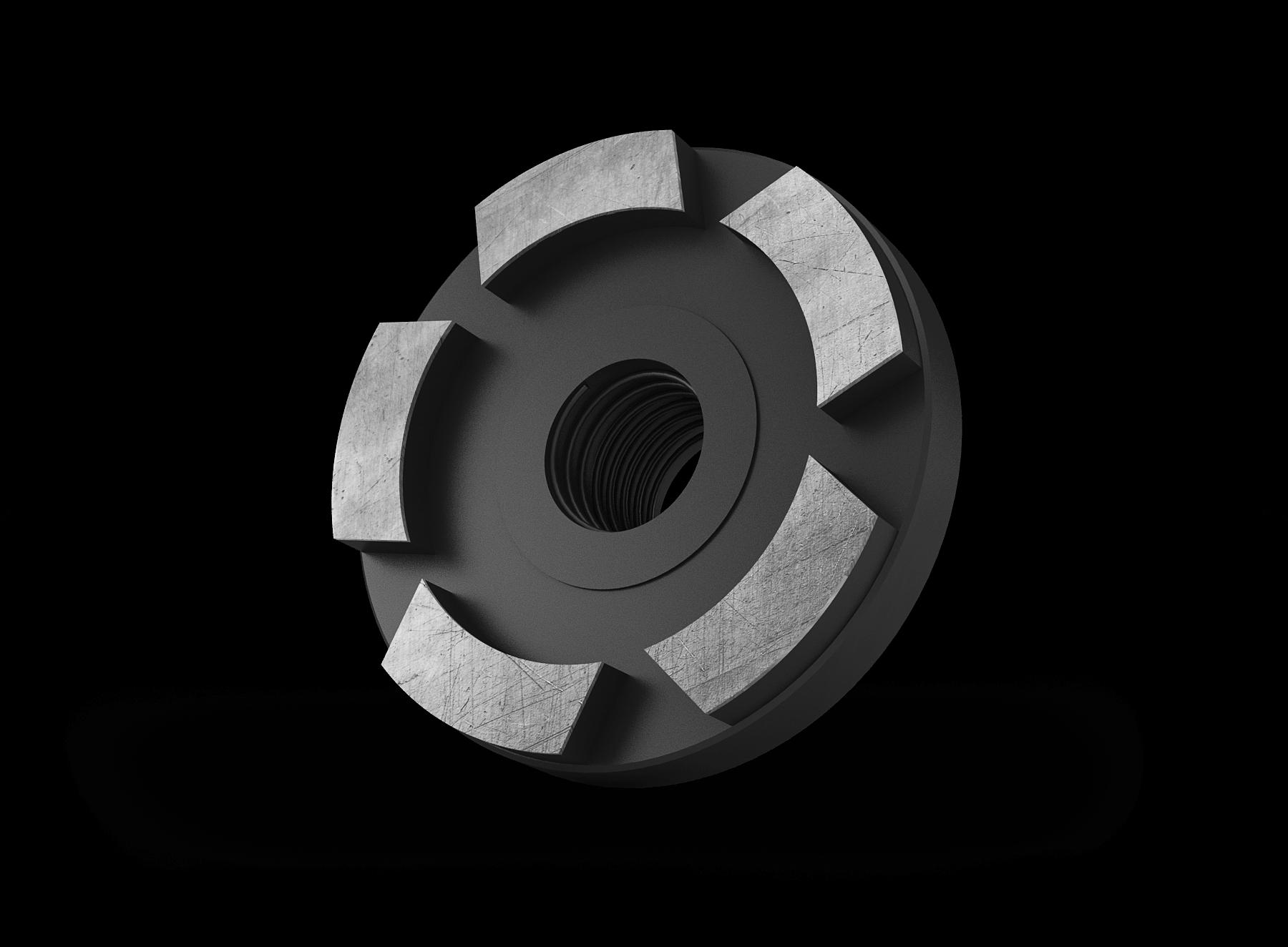 Komschijf 50mm zwart (scalper)
