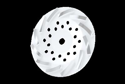 Turbo Komschijf Wit #35-45