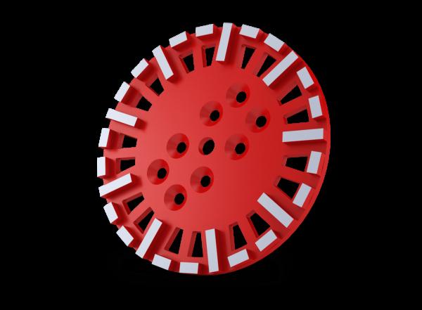 Diamantschijf Euro line schuurschijven voor 1 kops schuurmachine rood